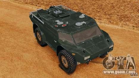 Armored Security Vehicle para GTA 4 vista lateral