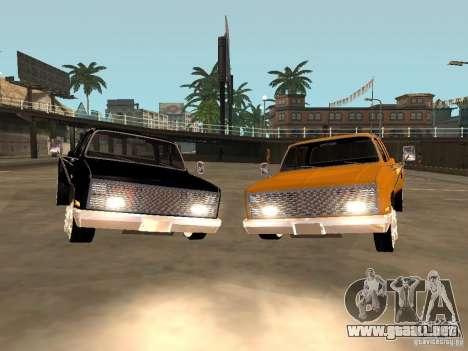 Chevrolet Silverado Lowrider para GTA San Andreas vista posterior izquierda