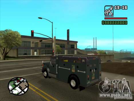 GMC 6000 Armored Truck 1985 para GTA San Andreas left