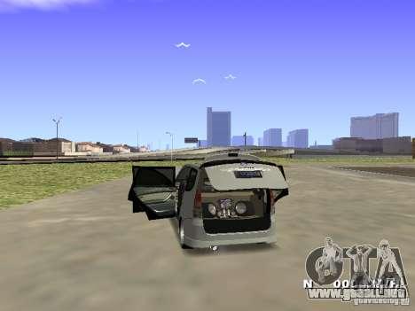 Toyota Avanza Street Edition para GTA San Andreas vista posterior izquierda