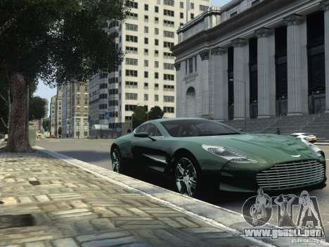 Aston Martin One 77 2012 para GTA 4 Vista posterior izquierda