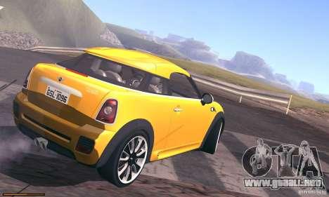 Mini Concept Coupe 2010 para visión interna GTA San Andreas