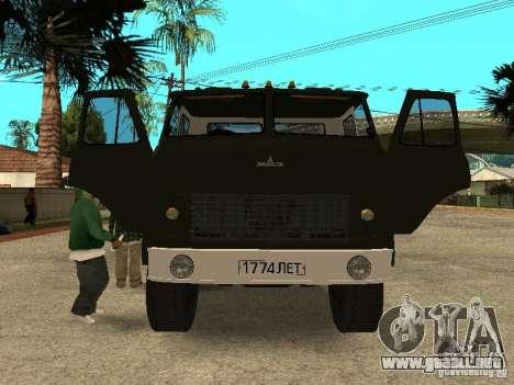 MAZ 515V para visión interna GTA San Andreas