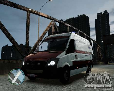 Mercedes Benz Sprinter American Medical Response para GTA 4