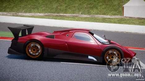 Pagani Zonda R para GTA 4 vista lateral