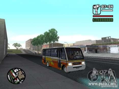 Ciferal Agilis M.Benz LO-814 BY GTABUSCL para GTA San Andreas vista hacia atrás