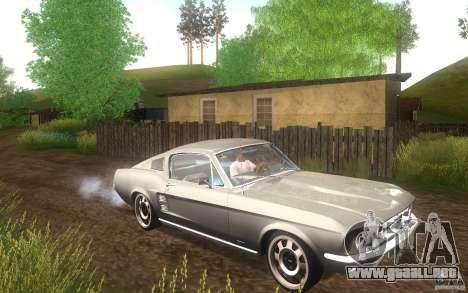 Ford Mustang 1967 American tuning para visión interna GTA San Andreas
