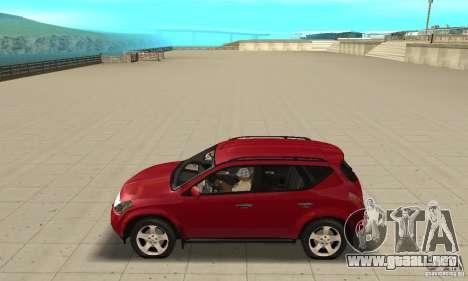 Nissan Murano 2004 para GTA San Andreas left