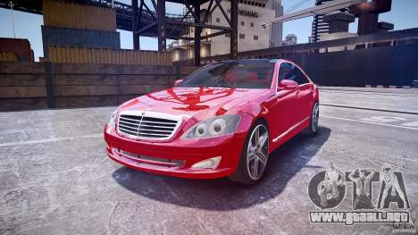Mercedes Benz w221 s500 v1.0 cls amg wheels para GTA 4