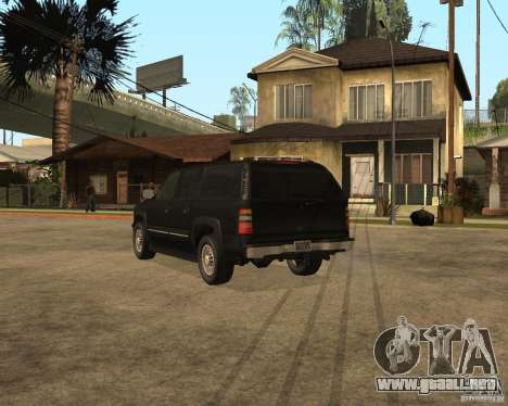 Chevrolet Suburban FBI para GTA San Andreas left