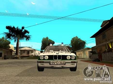 BMW E30 323i Polizei para la visión correcta GTA San Andreas