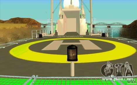 Rainbow Warrior para visión interna GTA San Andreas