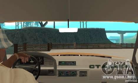 Ford F-350 1992 para GTA San Andreas vista hacia atrás