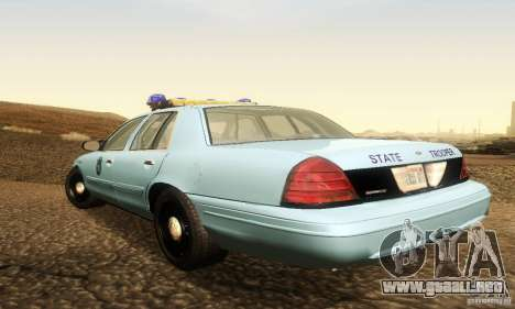 Ford Crown Victoria Maine Police para GTA San Andreas left