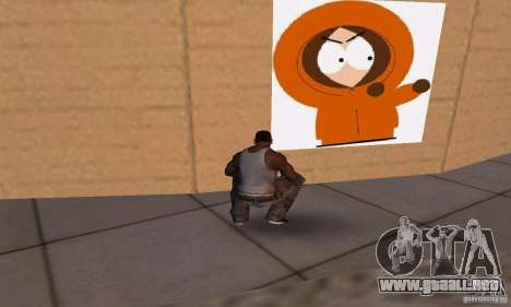 South Park Grafitti Mod para GTA San Andreas sexta pantalla