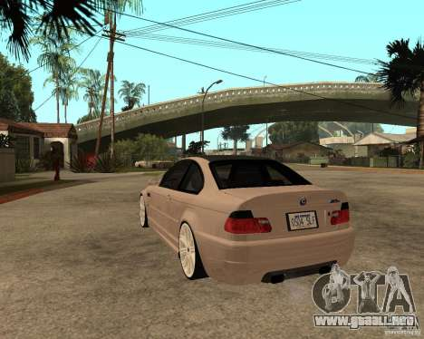 BMW M3 CSL E46 G-Power para GTA San Andreas left