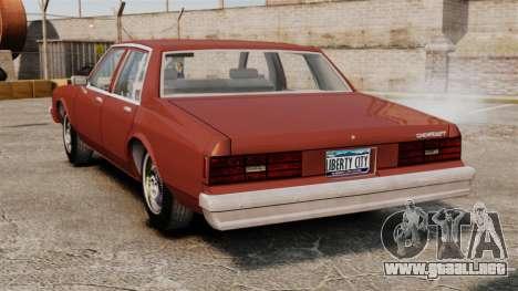 Chevrolet Caprice Classic 1979 para GTA 4 Vista posterior izquierda