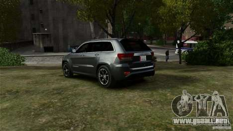 Jeep Grand Cherokee SRT8 para GTA 4 left
