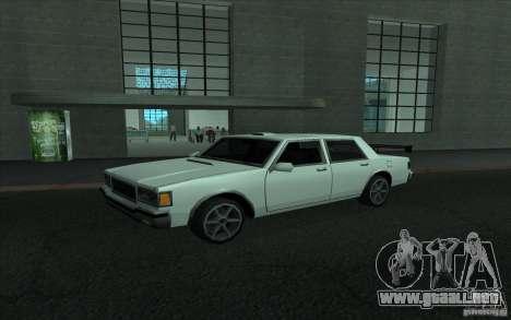 Civilian Police Car LV para la vista superior GTA San Andreas
