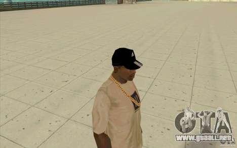 Adidas baseball cap-negro para GTA San Andreas tercera pantalla