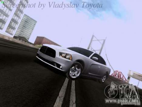 Dodge Charger 2013 para GTA San Andreas vista posterior izquierda