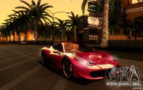 Ferrari 458 Italia Final para visión interna GTA San Andreas