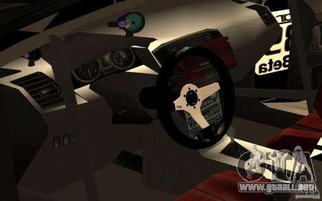 Mitsubishi Lancer Evolution X Monster Energy para visión interna GTA San Andreas