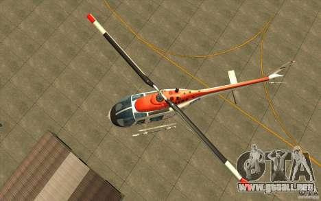 Bell 206 B Police texture2 para GTA San Andreas vista hacia atrás