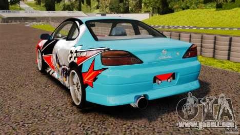 Nissan Silvia S15 Evil Empire para GTA 4 Vista posterior izquierda