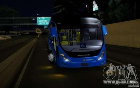 Marcopolo Viale BRT 0500M para GTA San Andreas vista posterior izquierda