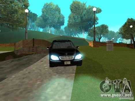 Mercedes-Benz S600 Biturbo 2003 v2 para la visión correcta GTA San Andreas