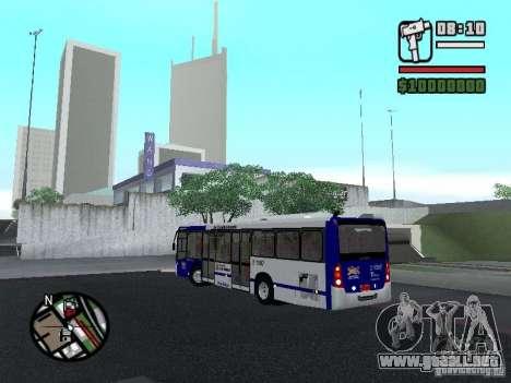 Busscar Urbanuss Ecoss MB 0500U Sambaiba para GTA San Andreas vista posterior izquierda