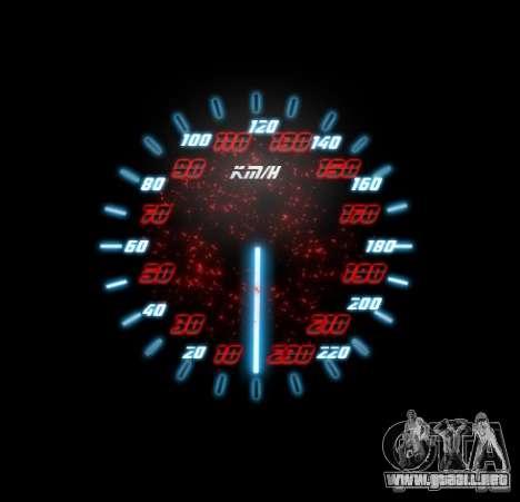 Neon Style Speedometr para GTA San Andreas sucesivamente de pantalla