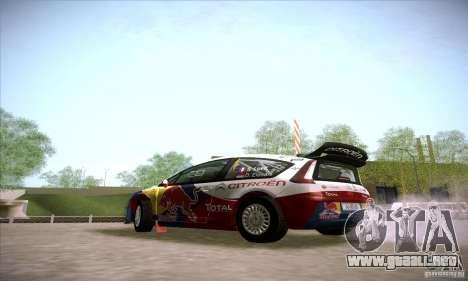 Citroen C4 WRC para GTA San Andreas vista posterior izquierda