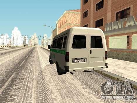 Empresas 3302 gacela para GTA San Andreas vista posterior izquierda