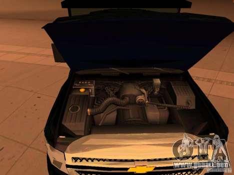 Chevrolet Silverado HD 3500 2012 para visión interna GTA San Andreas