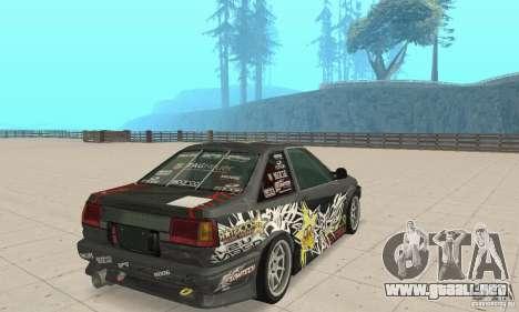 Toyota AE86wrt Rockstar para GTA San Andreas left