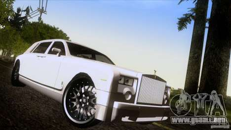 Rolls Royce Phantom Hamann para GTA San Andreas interior