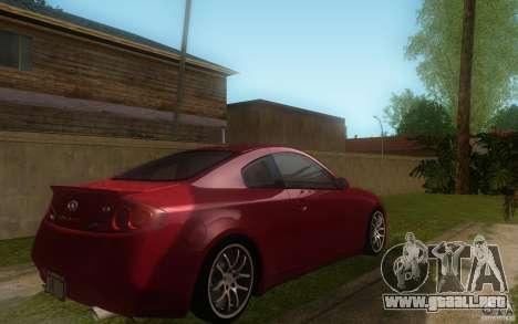 Infiniti G35 - Stock para la visión correcta GTA San Andreas