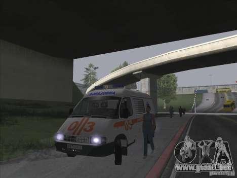 Ambulancia 22172 del GAS para visión interna GTA San Andreas