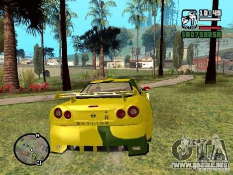 Nissan Skyline 2Fast 2Furious NEW para la visión correcta GTA San Andreas