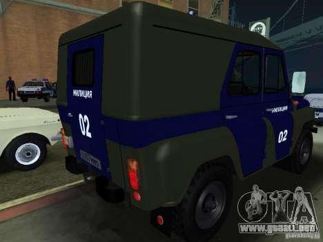 Policía UAZ 3151 para la visión correcta GTA San Andreas