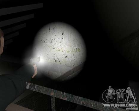 Flashlight for Weapons v 2.0 para GTA 4 novena de pantalla