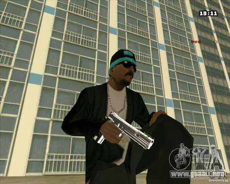 Chrome Weapon Pack para GTA San Andreas segunda pantalla