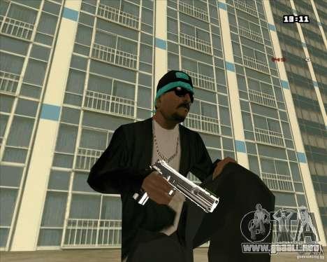 Chrome Weapon Pack para GTA San Andreas segunda pantalla