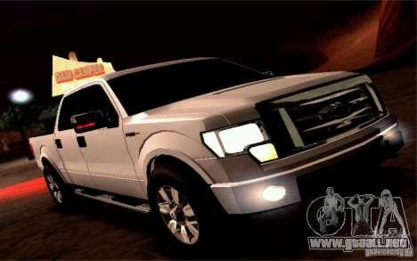 Ford Lobo 2012 para GTA San Andreas vista hacia atrás