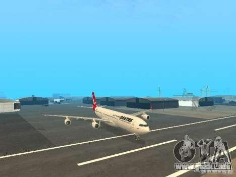 Airbus A340-300 Qantas Airlines para GTA San Andreas vista posterior izquierda