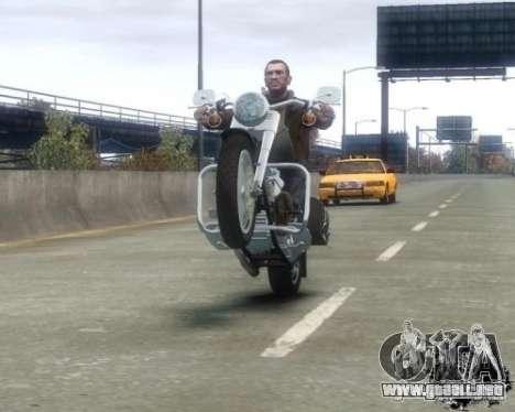 Harley Davidson FLSTF Fat Boy para GTA 4 visión correcta