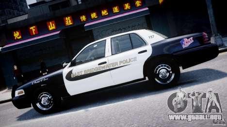 Ford Crown Victoria Massachusetts Police [ELS] para GTA 4 vista desde abajo