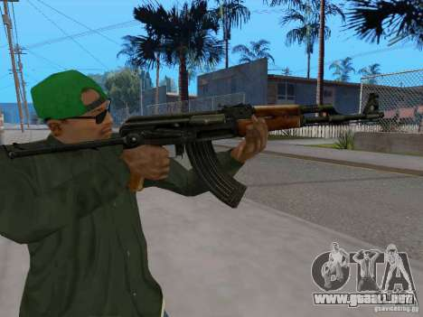AKC - 47 HD para GTA San Andreas sucesivamente de pantalla